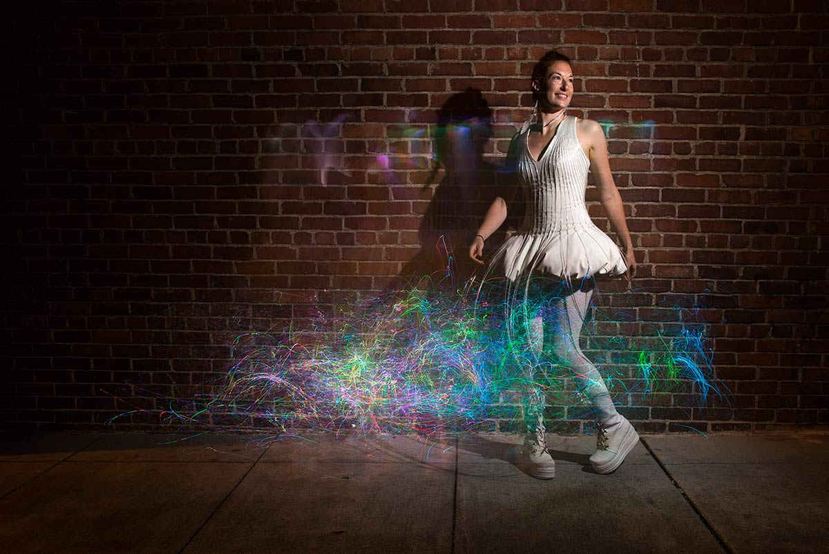 fiber optic dress natalie walsh